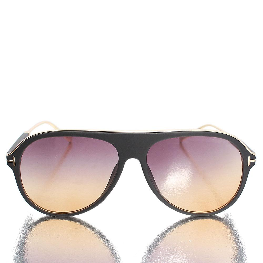 Gold Black Aviator Polarized Sunglasses