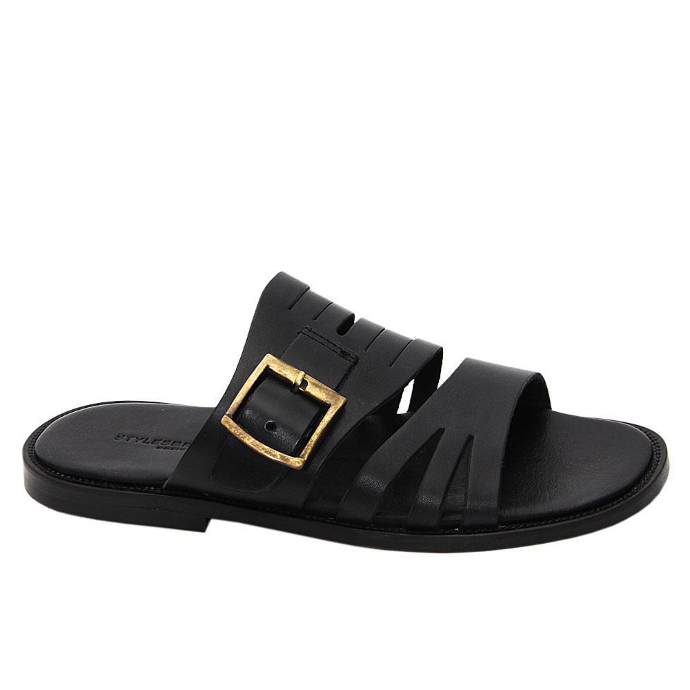 Black Eduardo Elias Italian Leather Slippers