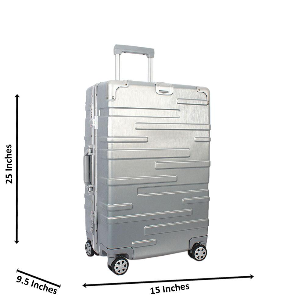 Grey 25 inch HardShell Medium Suitcase Wt TSA Lock