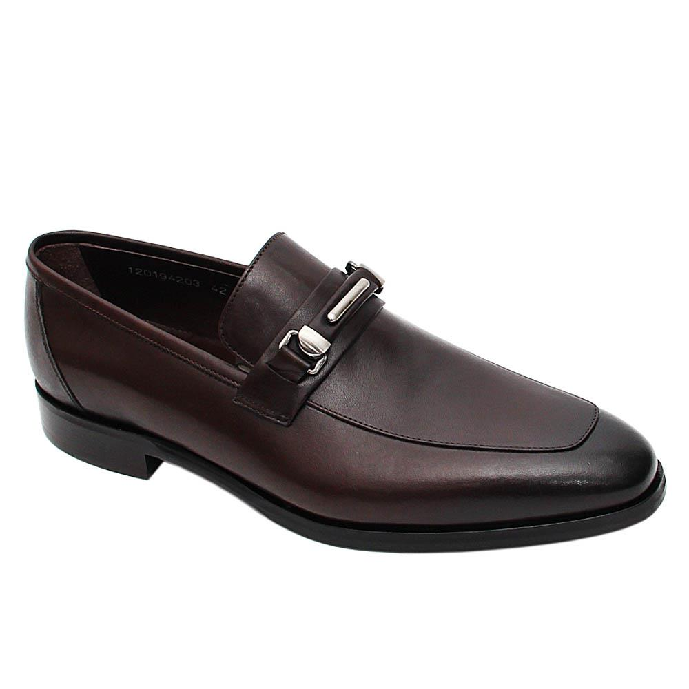 Coffee Mauricio Italian Leather Loafers