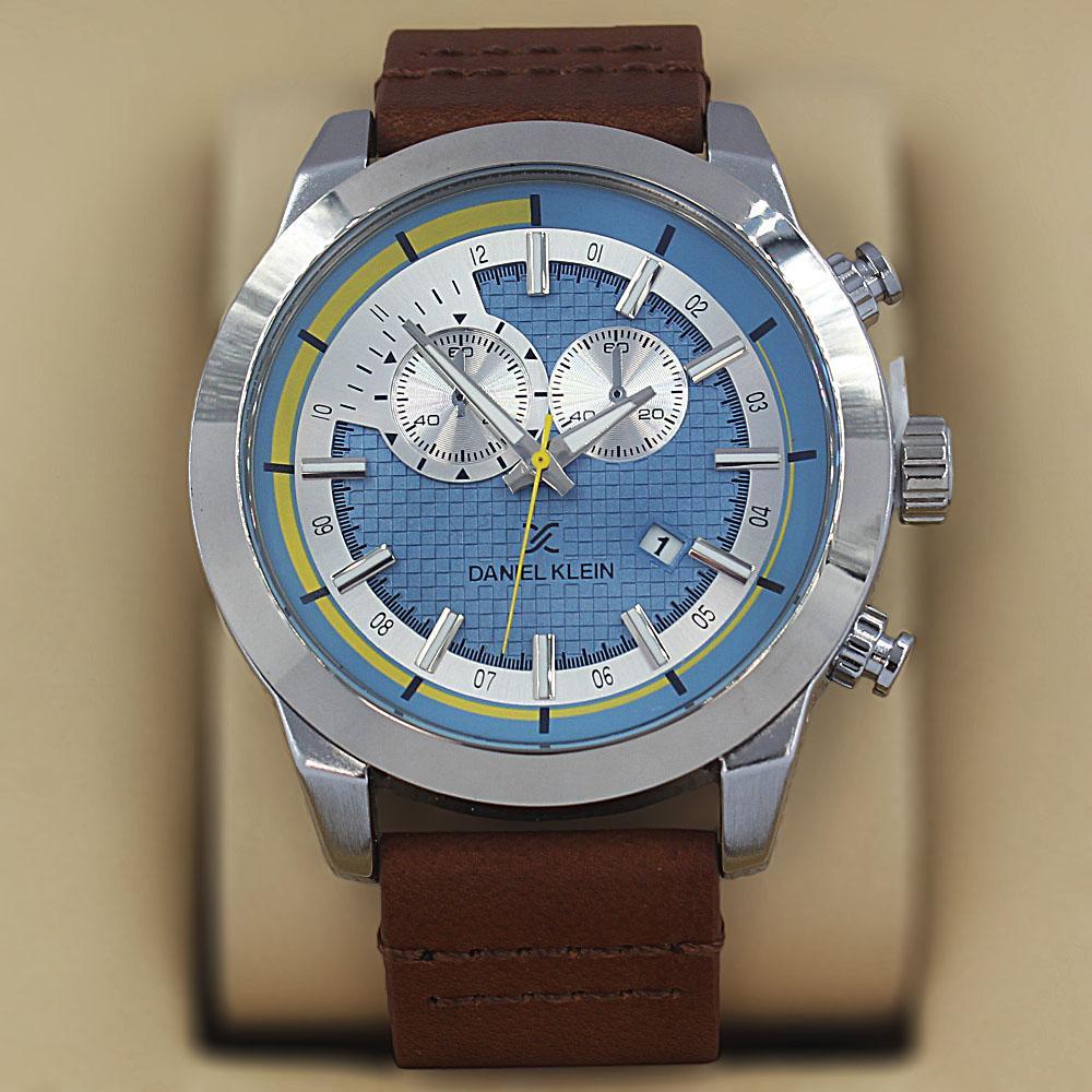 Daniel Klein  Facundo Brown Leather Fashion Series Watch