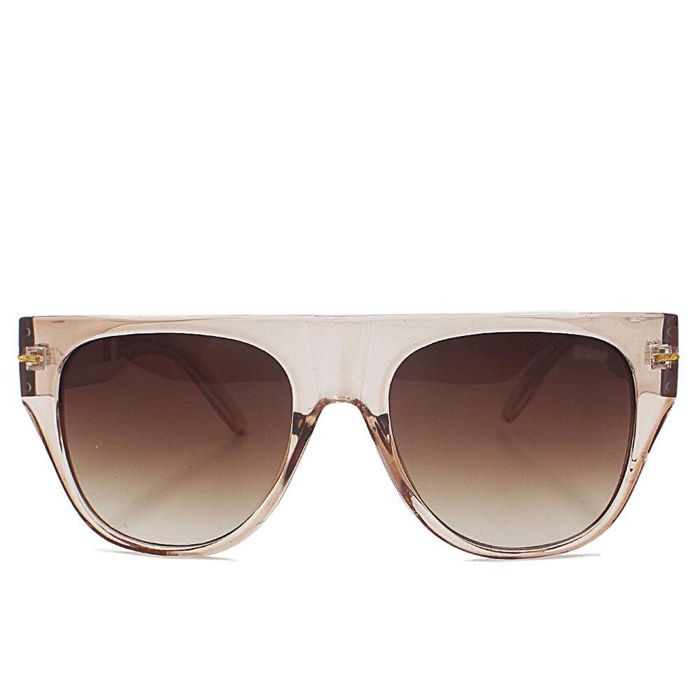 Brown Transparent Woman Shield Sunglasses
