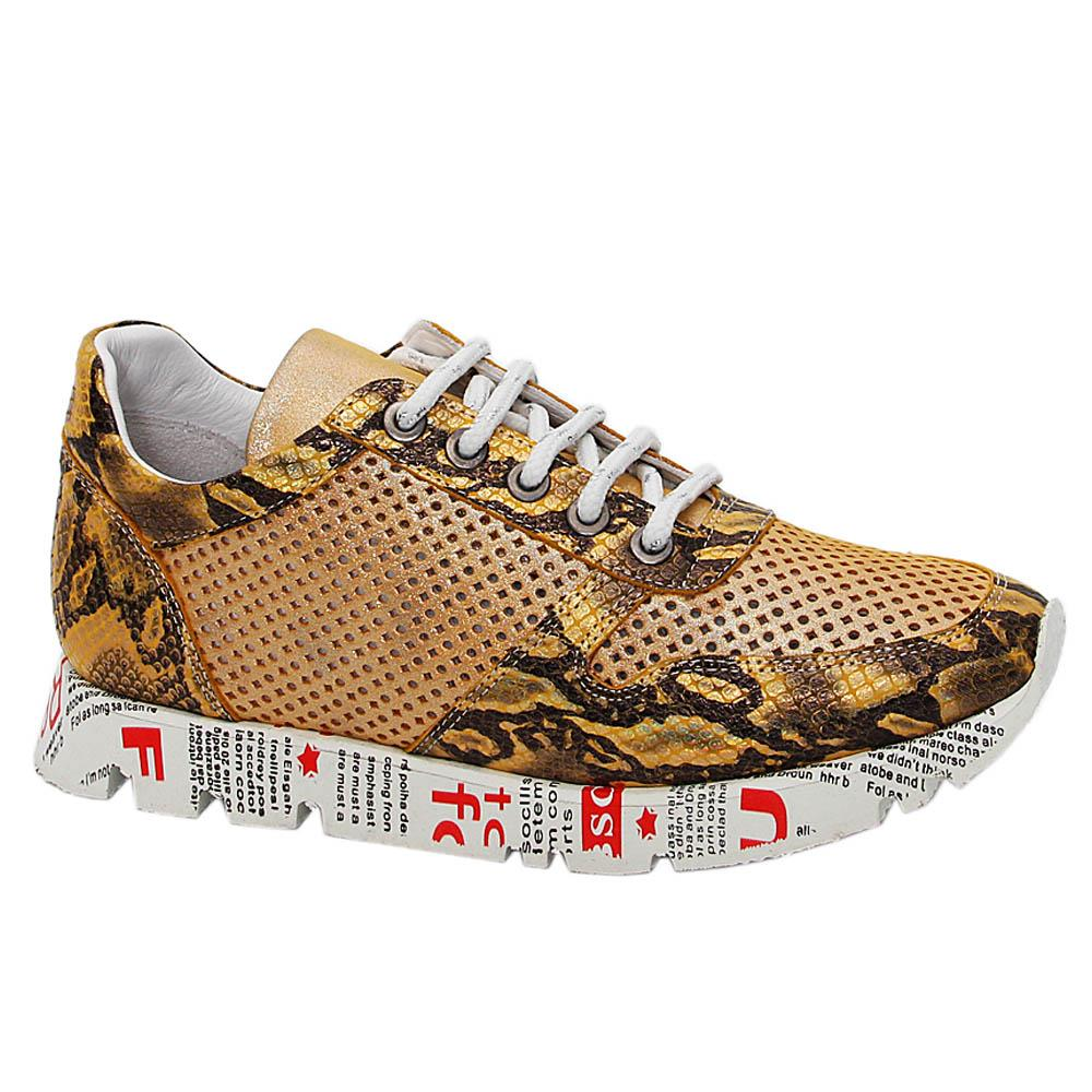 Yellow Vintage Tuscany Leather Breathable Women Sneakers