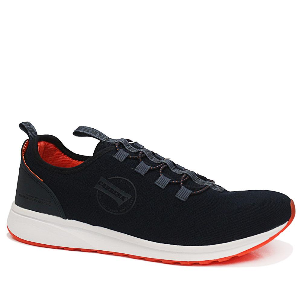 Carrera Navy Low Knit Fabric Breathable Sneakers