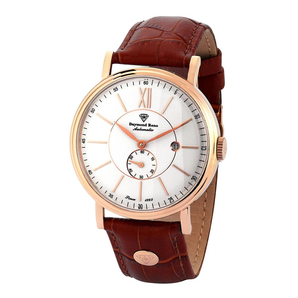 Cinnamon Brown Rose Gold Leather Automatic Watch