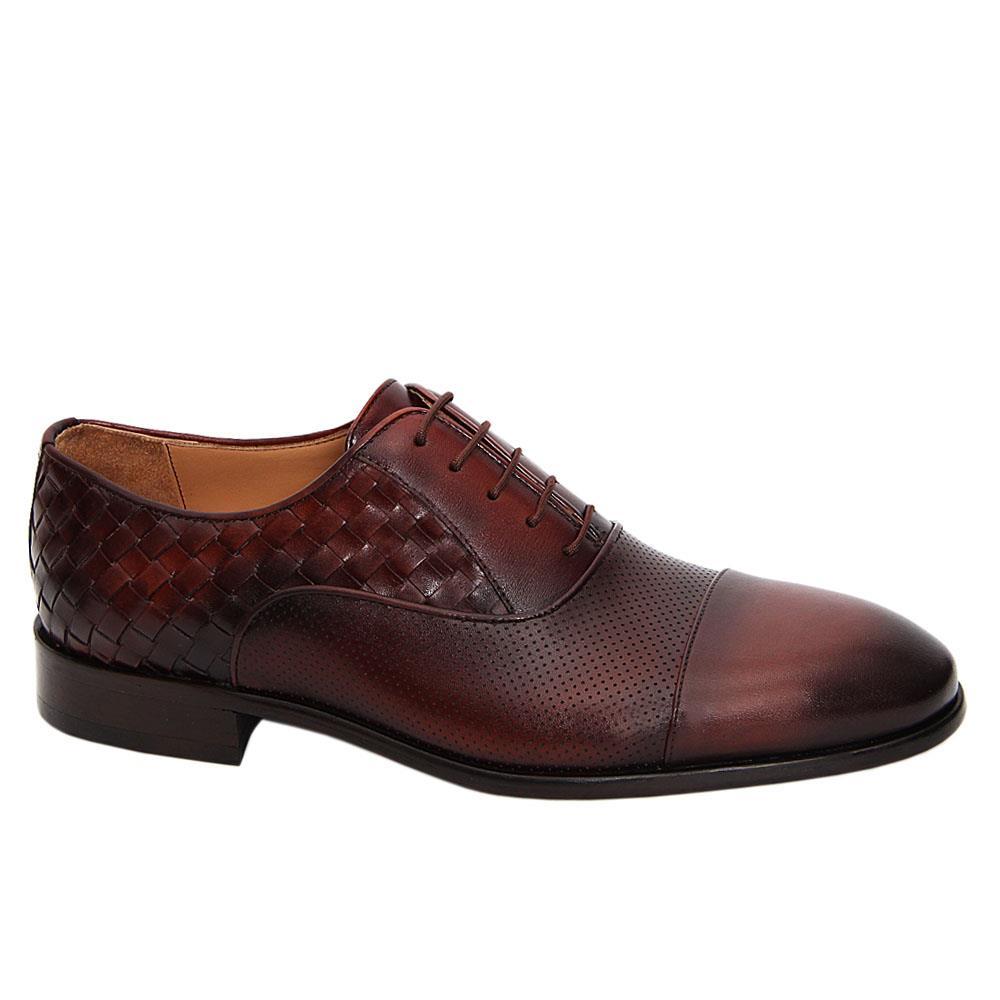 Coffee Alesso Italian Leather Oxford Shoe