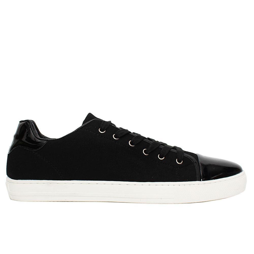 Black Wyatt Suede Leather Sneakers