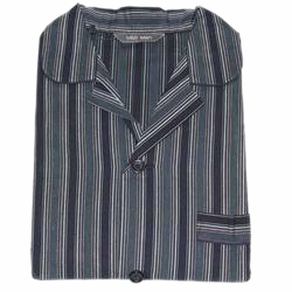 Navy Black Stripe Supersoft Men's PyjamaSz M