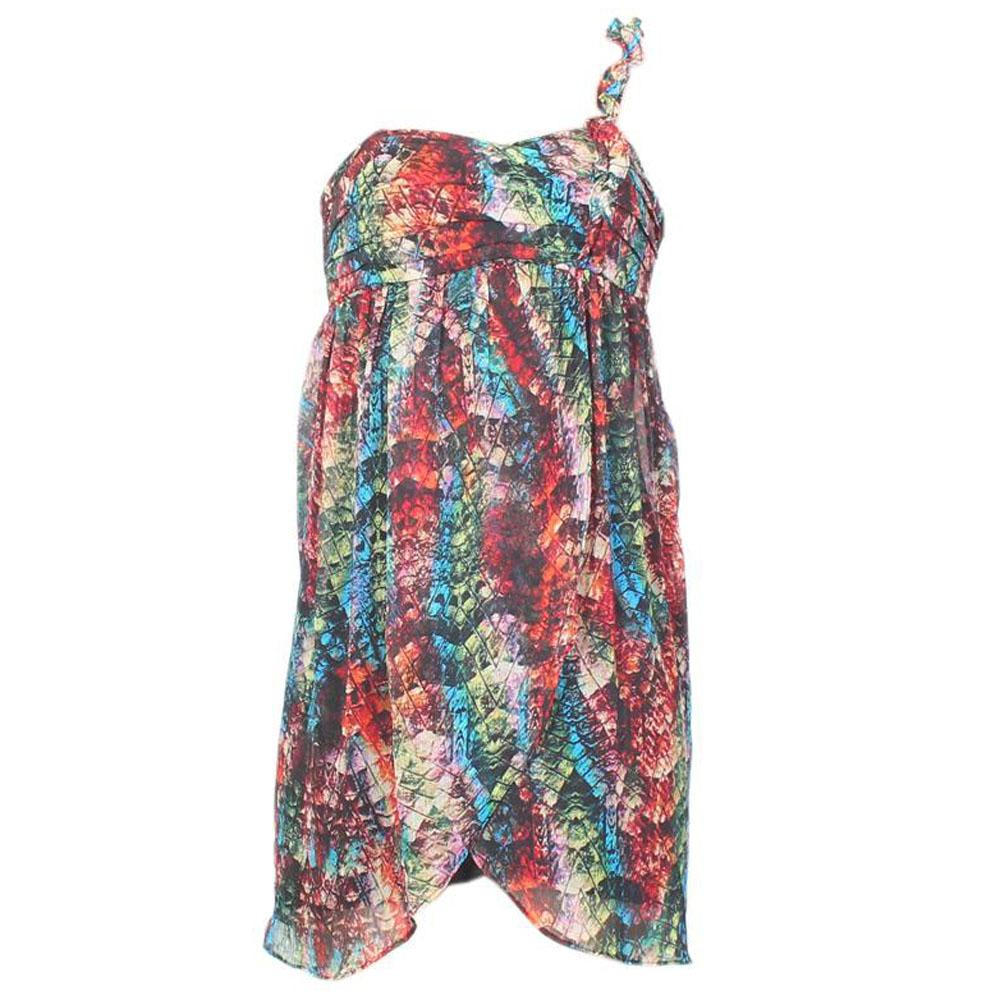 City Triangler Multicolour Pattern Belt Dress - Uk 9