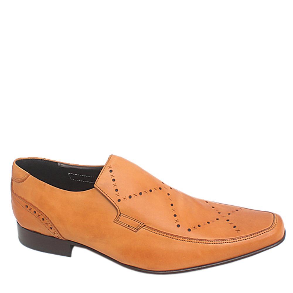 M & S Brown Leather Men Formal Shoe Sz 43