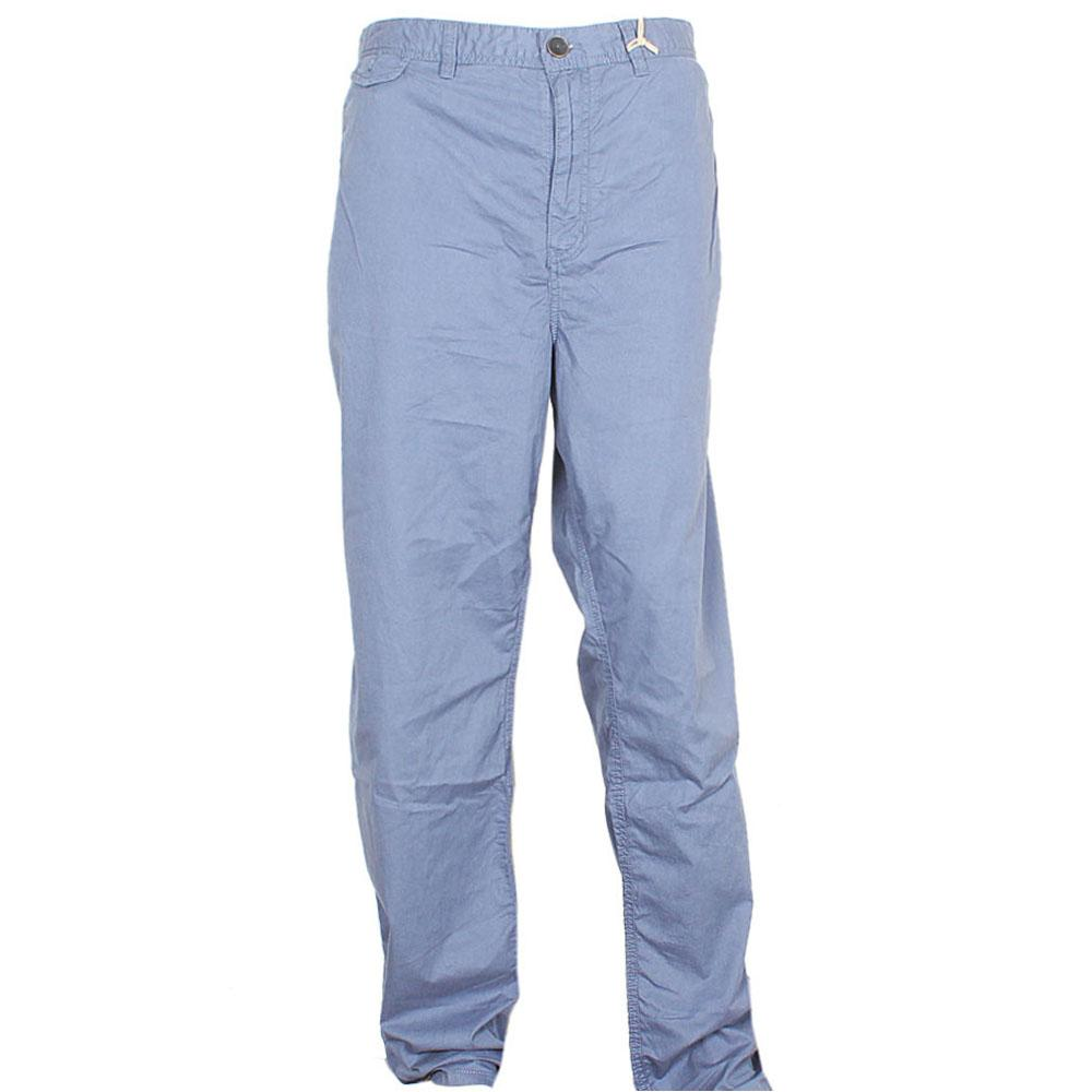 Blue Straight Cut Men Chinos W42-L34