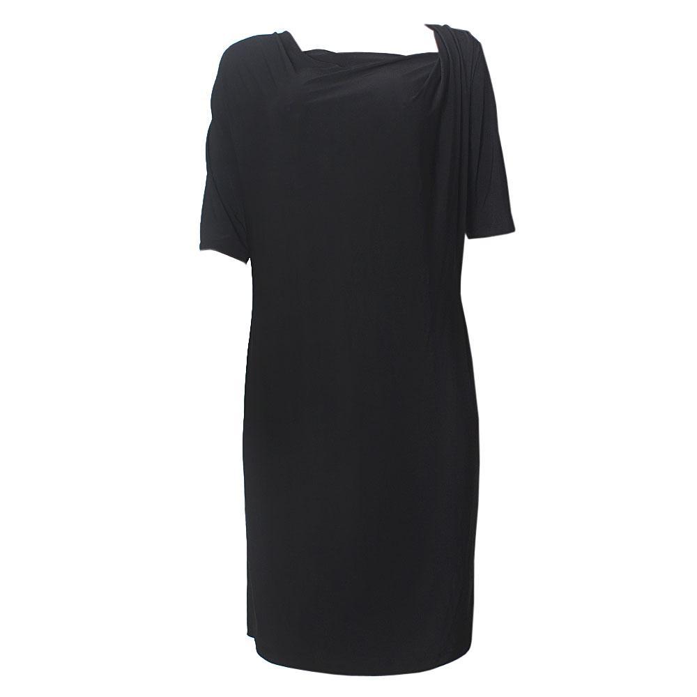 Twiggy WoBlack Sleeve Stretch Dress