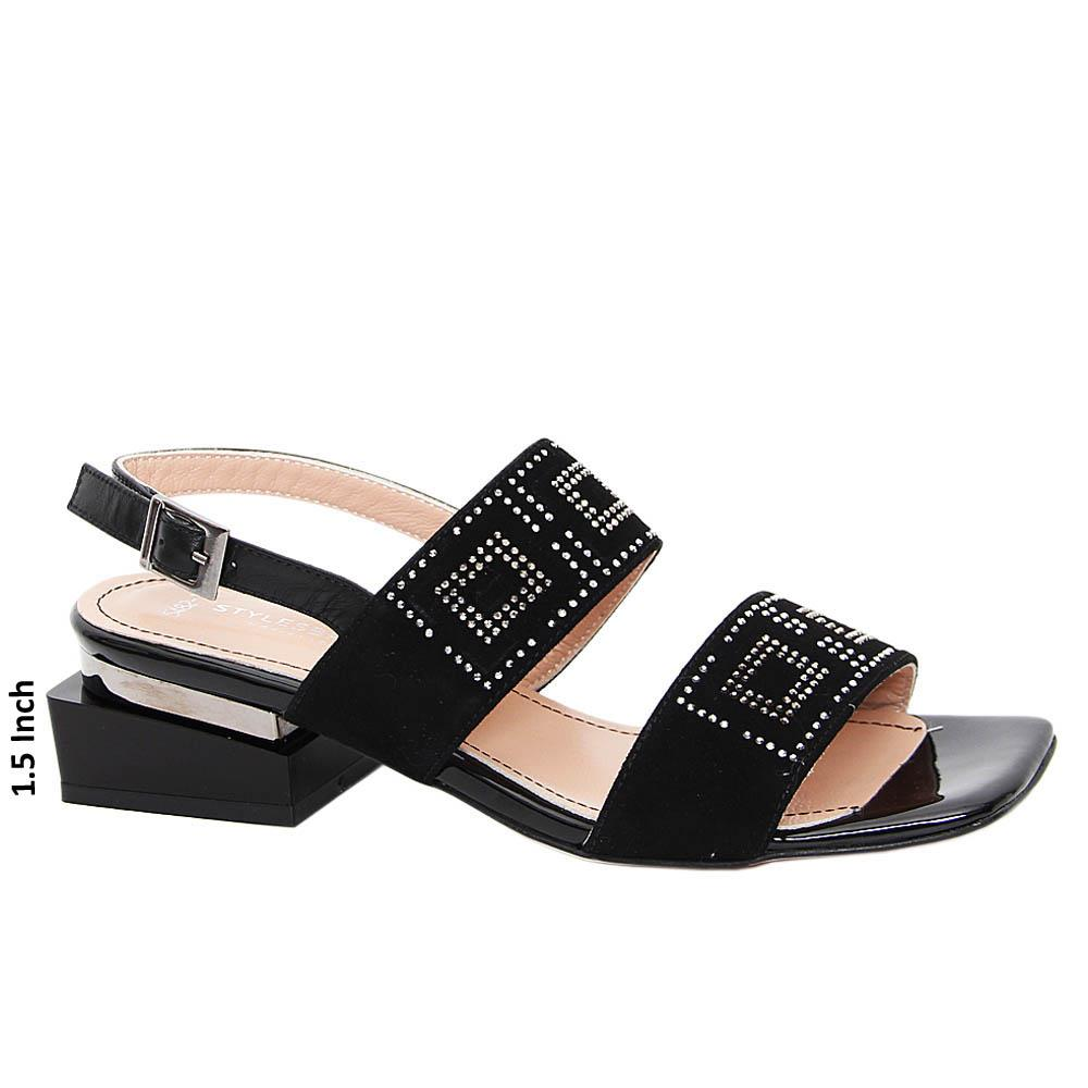 Black Maria Tuscany Suede Leather Sandals