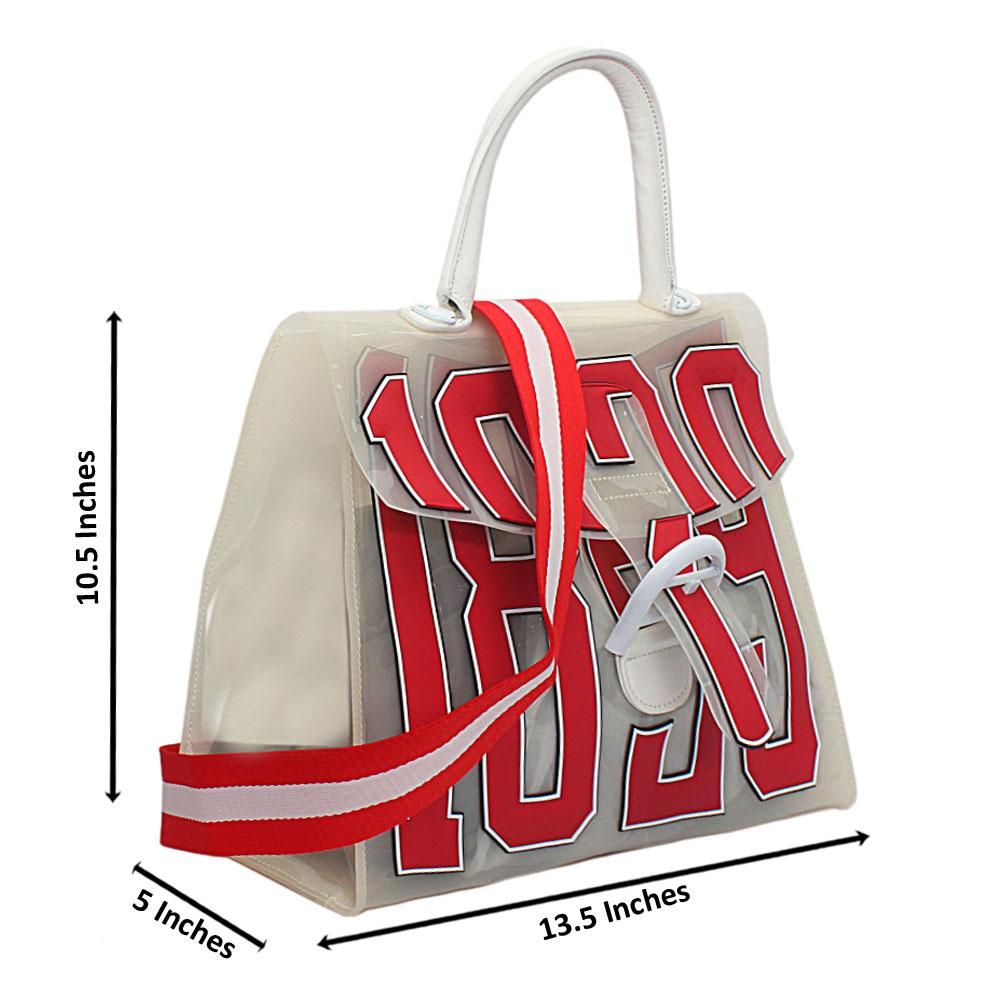 Off-White Rubber Medium 1829 Top Handle Handbag