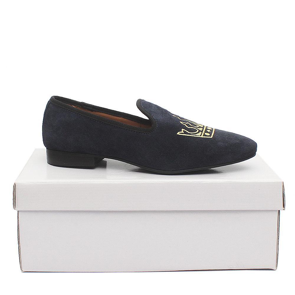 Kurt Geiger Navy Blue Suede Leather Men Shoe Sz 42