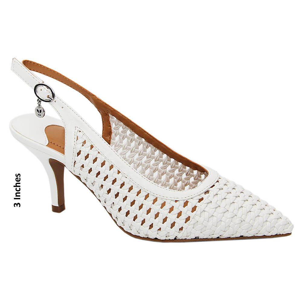 White-Claire-Woven-Leather-Mid-Heel-Slingback-Pumps