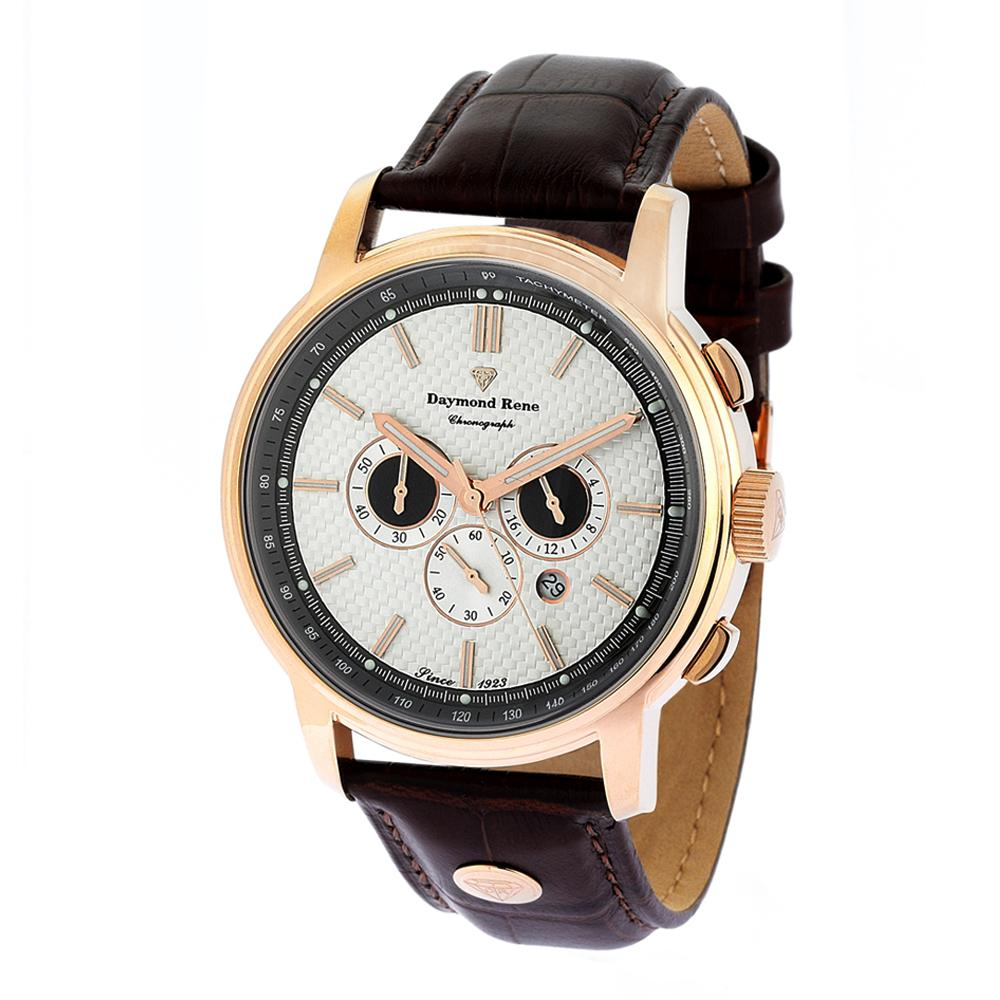 DR Rose Gold Leather Watch