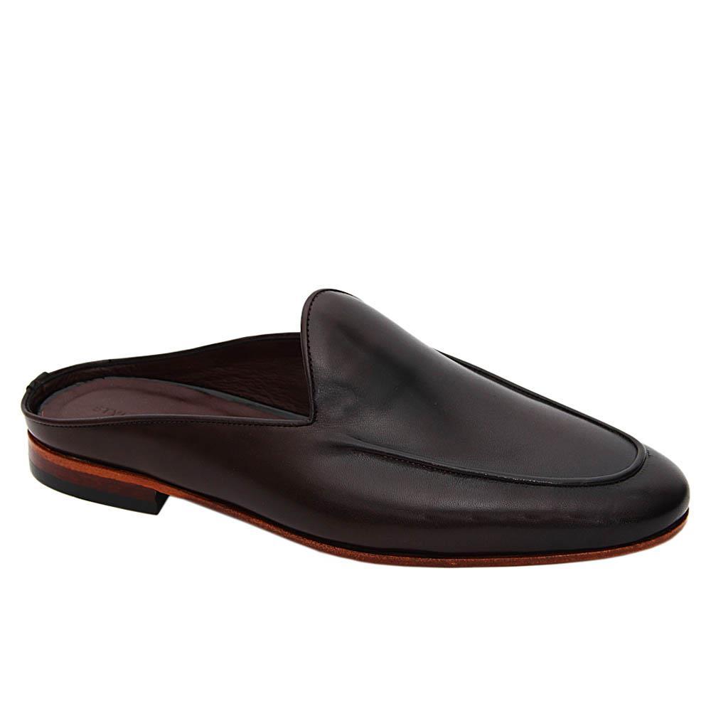 Coffee Giovanni Italian Leather Half Shoe