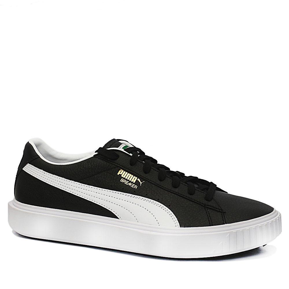 Puma Breaker Black Leather Sneakers
