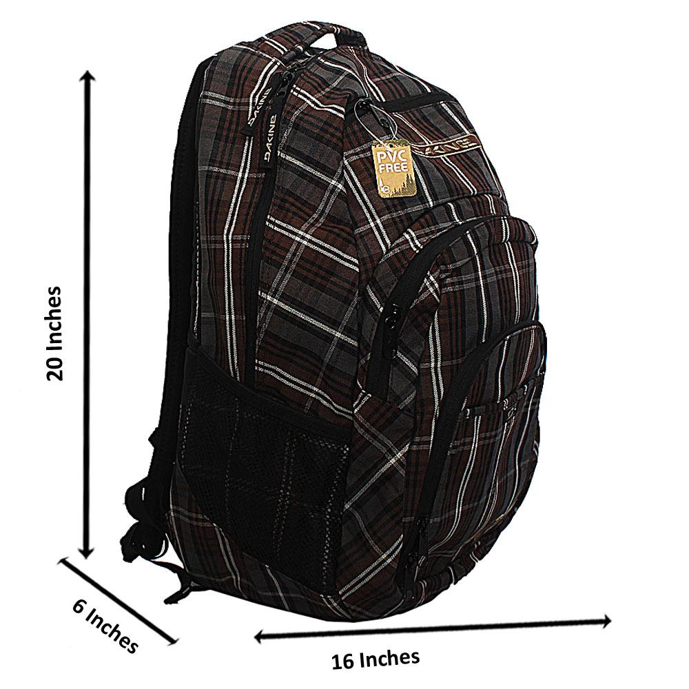 Dakina Gray Brown Fabric Backpack