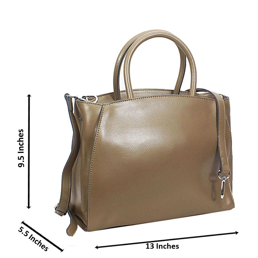 Camel Vero Leather Tote Handbag
