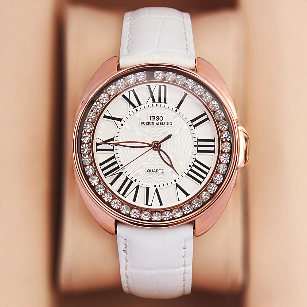 Fellisa Ice White Leather Ladies Watch