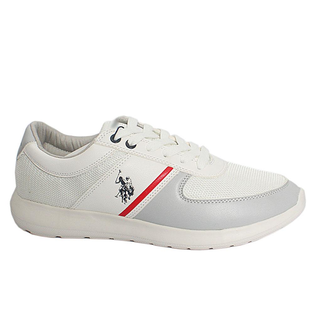 White Diller Fabric Suede Leather Sneakers