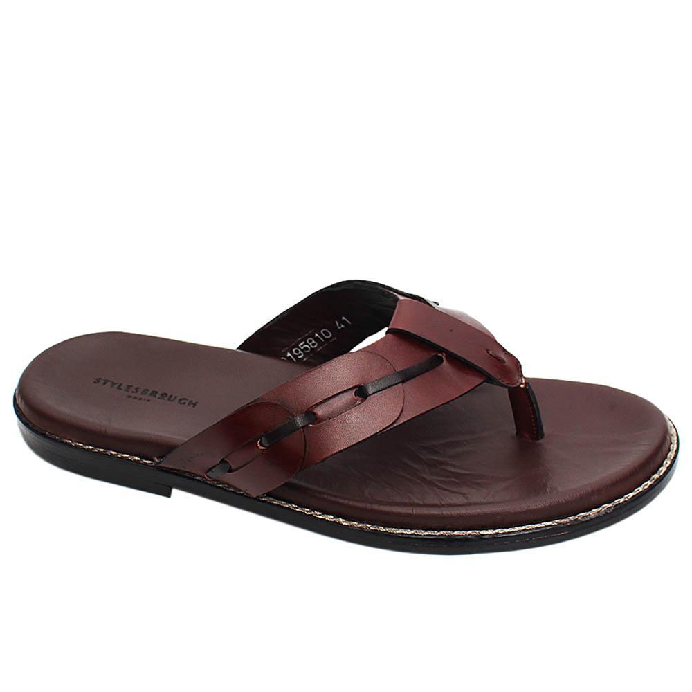 Brown Edwin Italian Leather Men Slippers