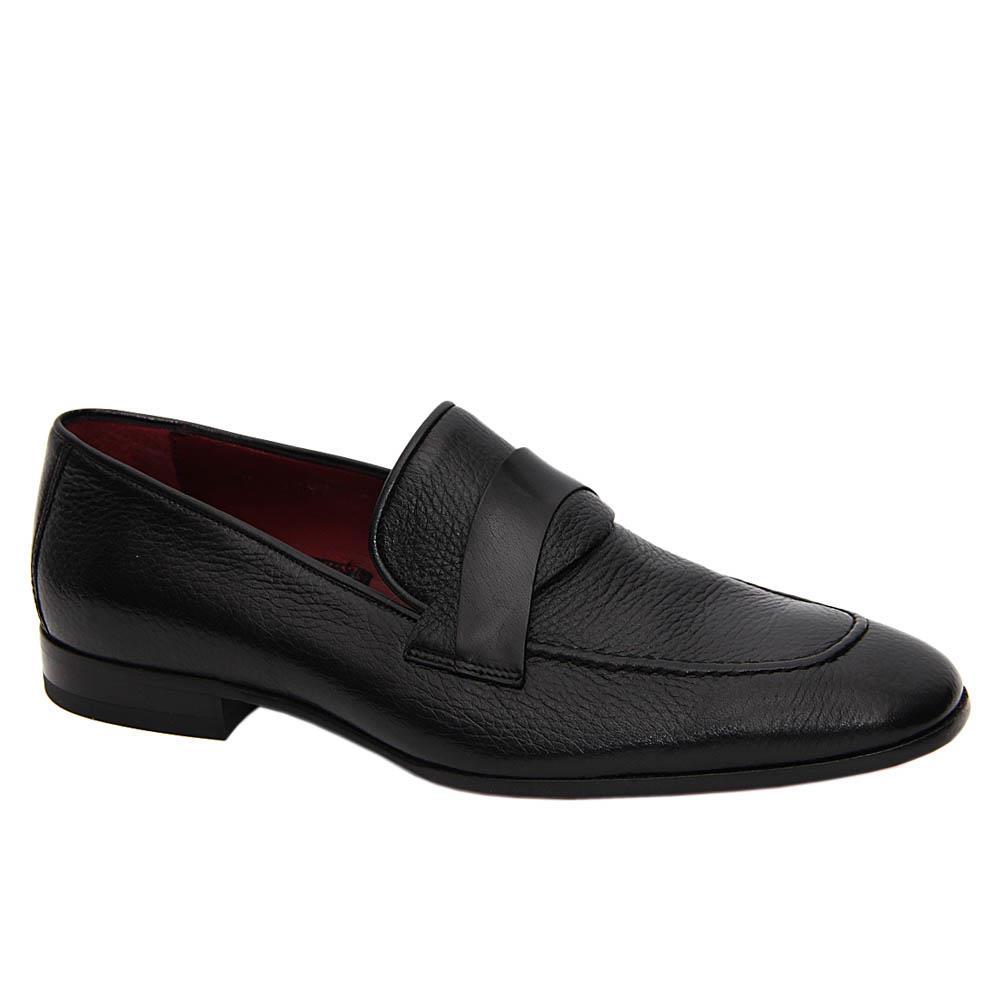 Black Vittorio Italian Soft Leather Loafers