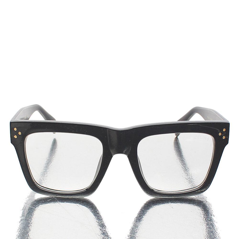 Black Oversized Wayfarer Clear Lens Glasses