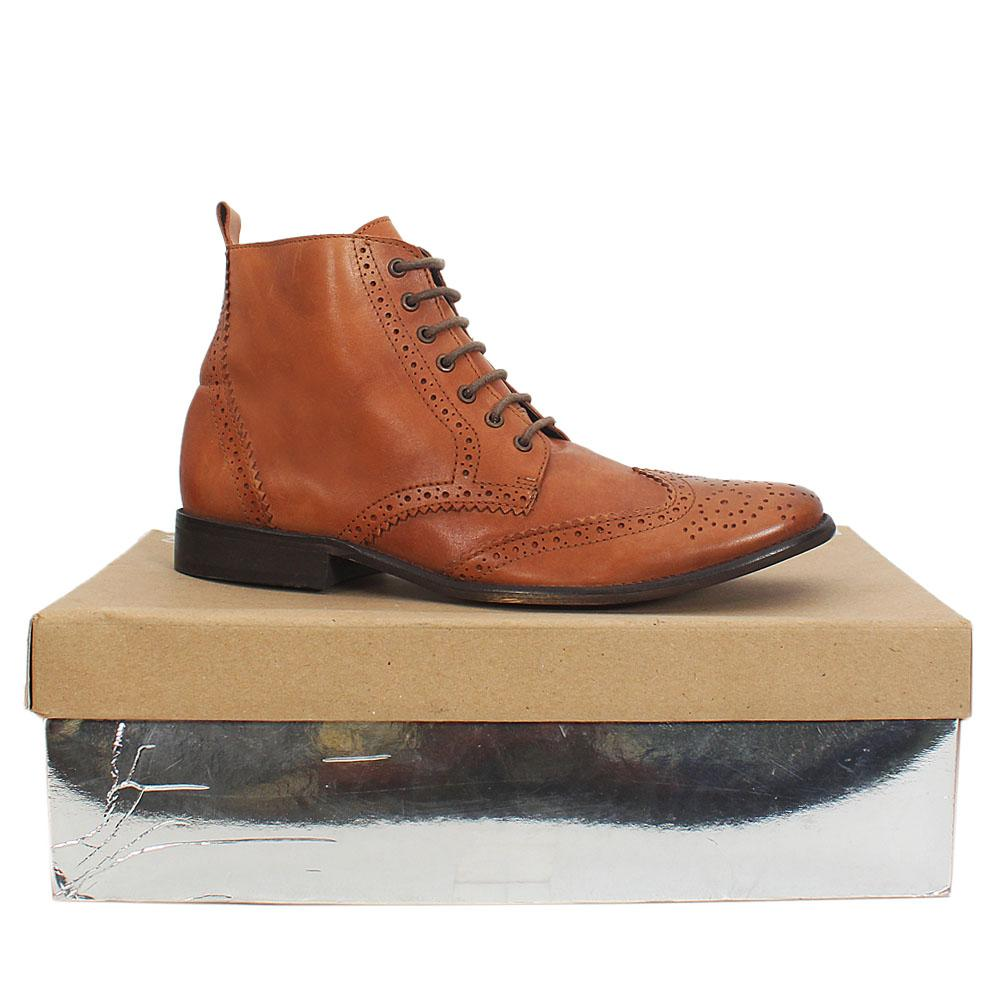 Kurt Geiger Brown Leather Mens Boot Brogues