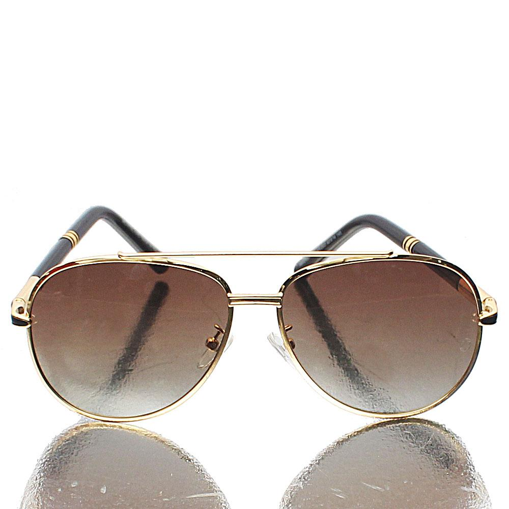 Gold Coaters Aviator Brown Lens Sunglasses