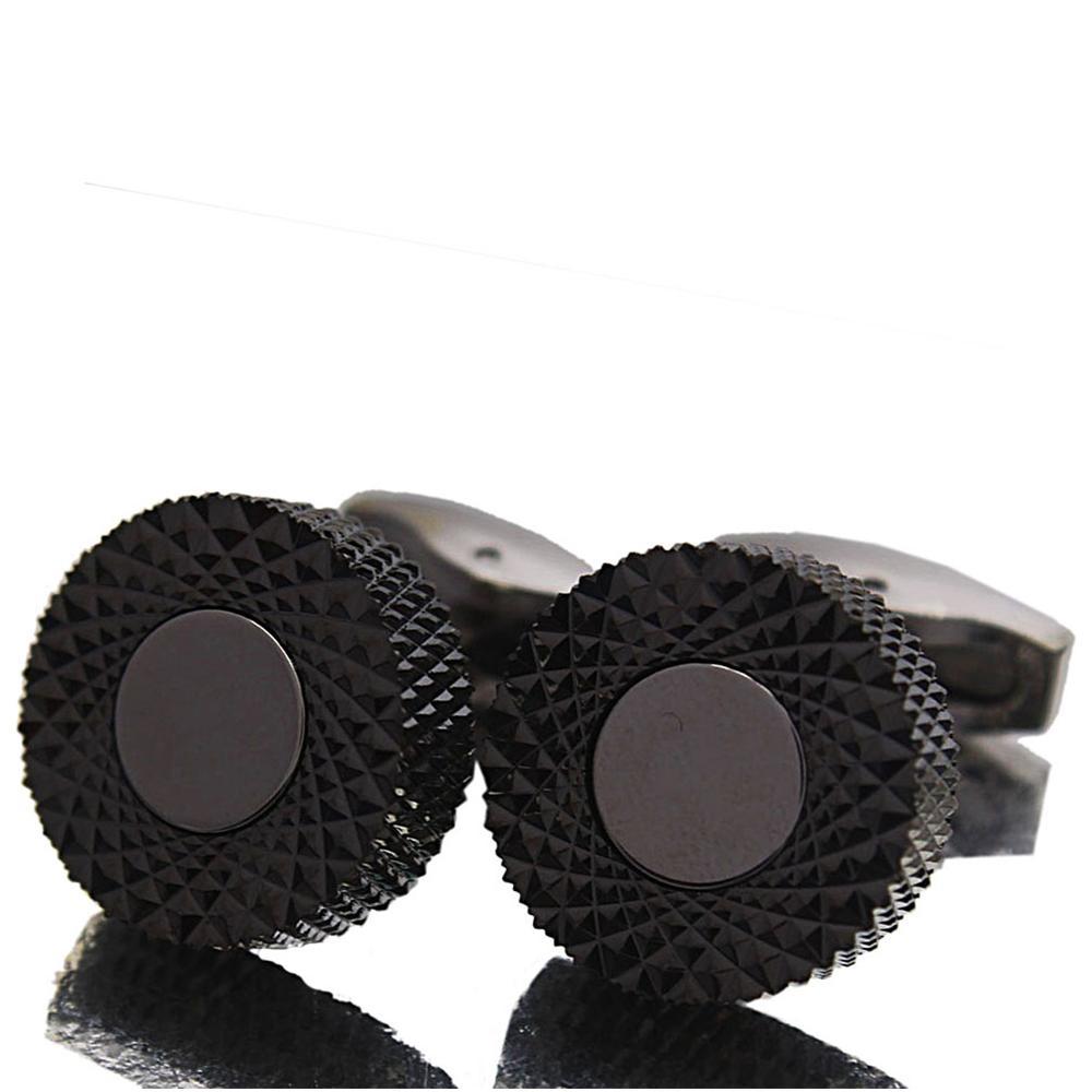 BosBlack Classic Stainless Steel Cufflinks