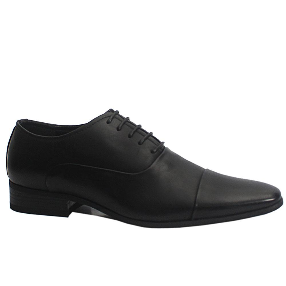 Black Emery Leather Men Oxford Shoes