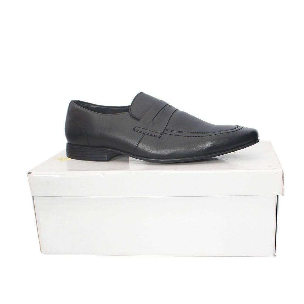 Kurt Geiger Kingsley  Black Leather Men Shoes  Sz 43