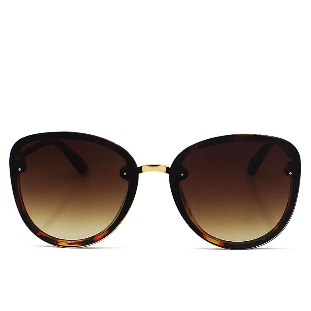 Brown Round FAviator Enamel Sunglasses