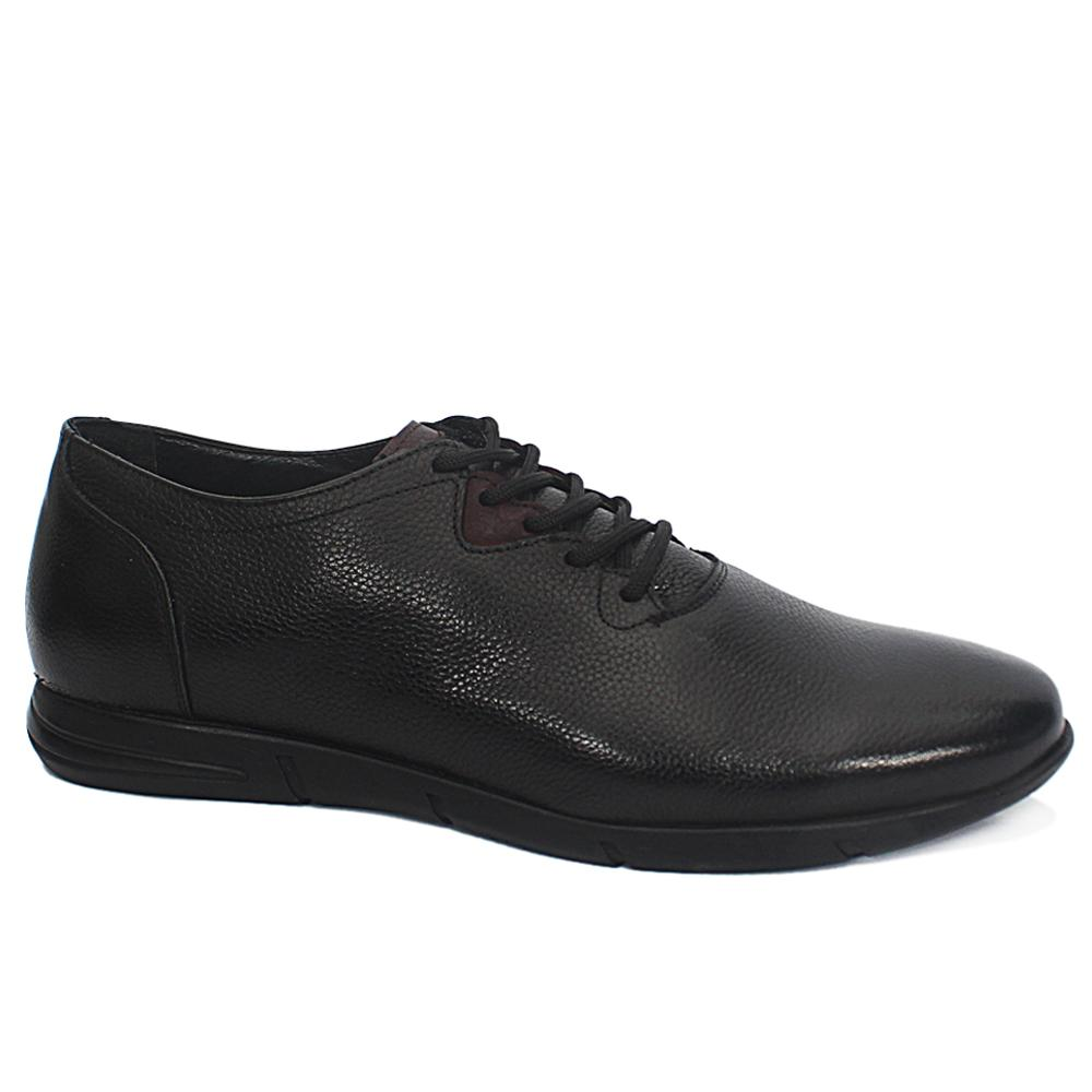 Beppe Black Leather Sneakers