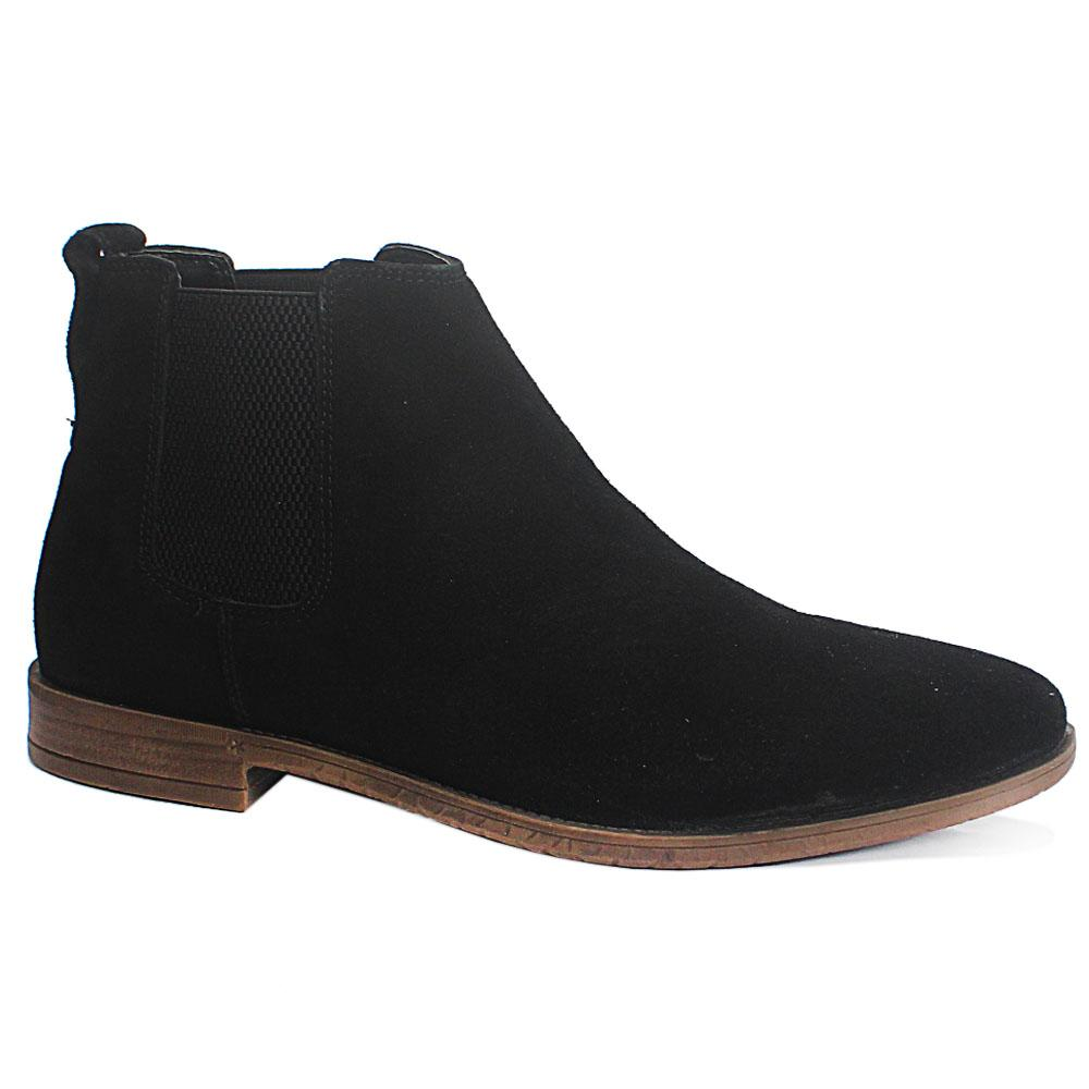 Black Suede Leather MenAnkle Boot