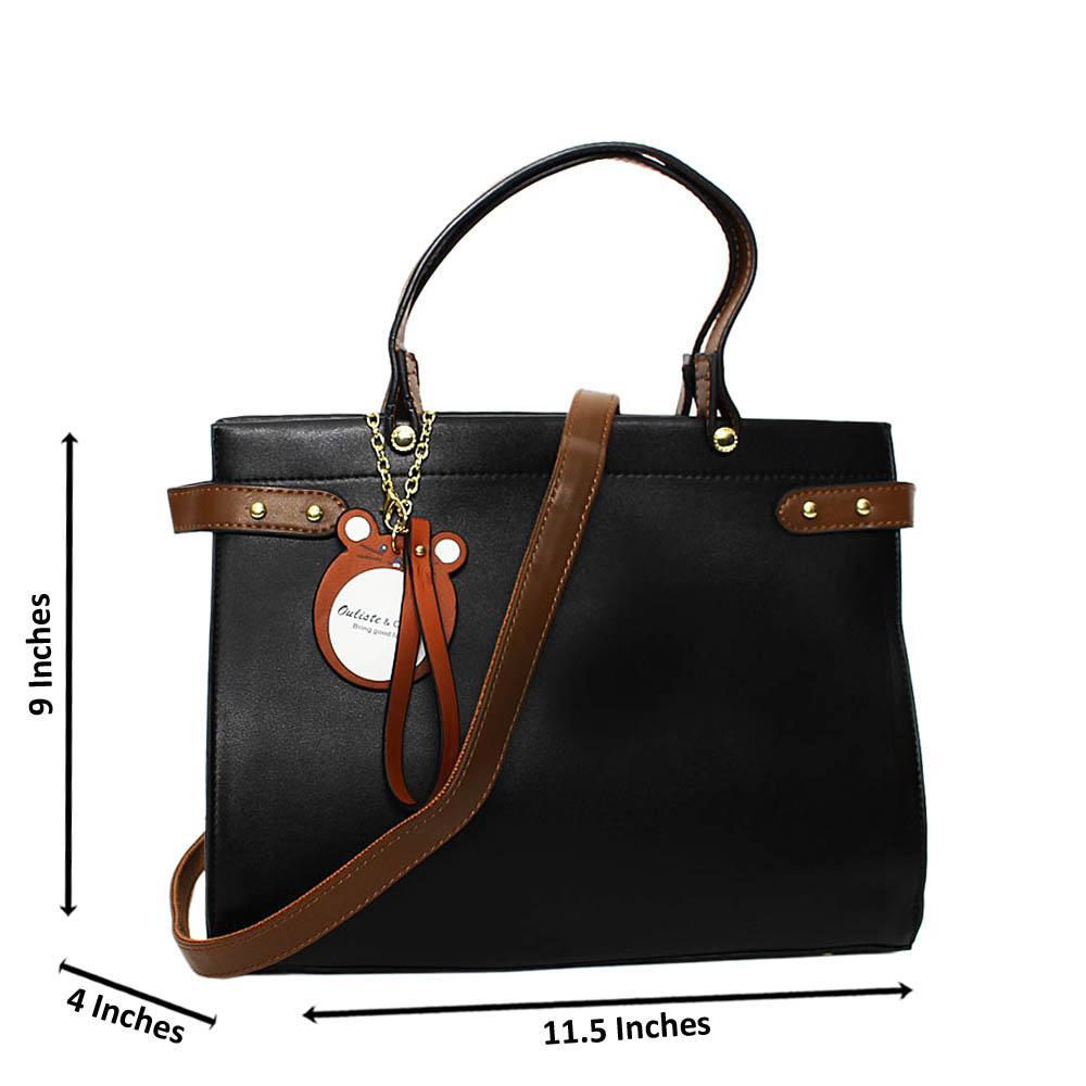 Black-Erika-Leather-Medium-Tote-Handbag