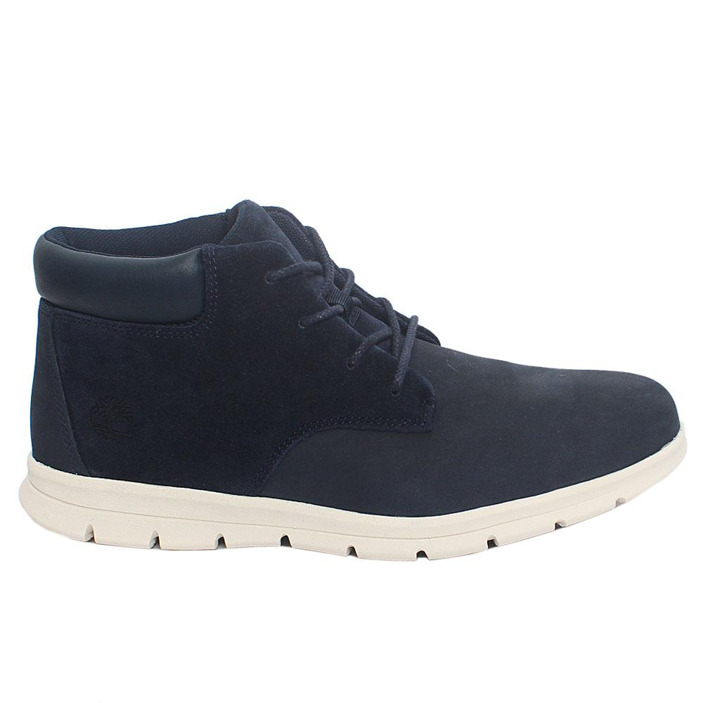Navy Chukka Suede Leather Boot