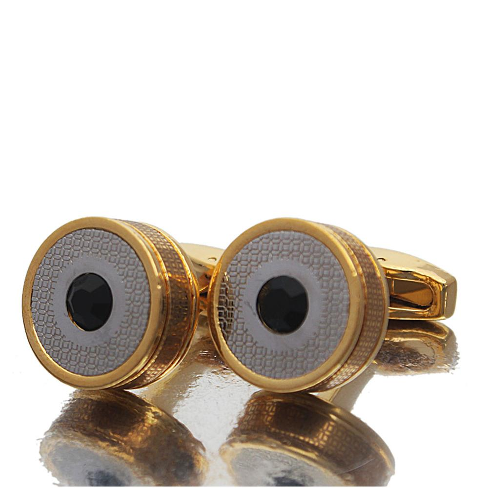 Gold Black Stud Stainless Steel Cufflinks