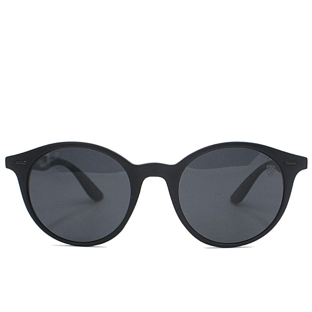 Black Round FNarrow Fit Sunglasses