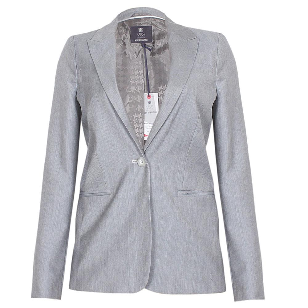 Gray L Sleeve Ladies Jacket UK 8