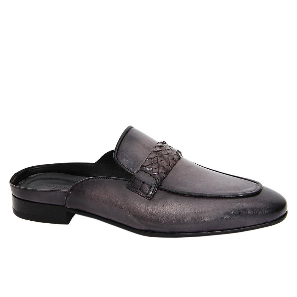 Gray Joaquin Italian Leather Half Shoe