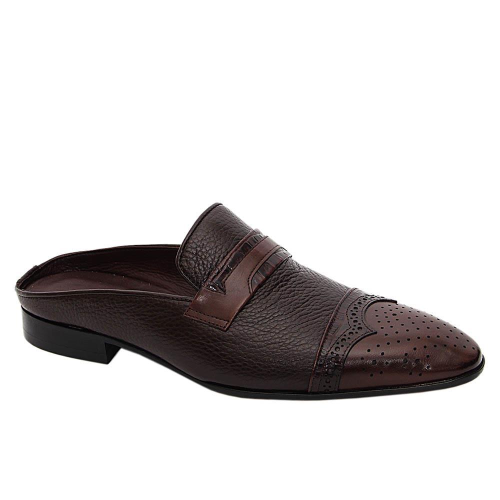 Coffee Francesco Italian Leather Half Shoe