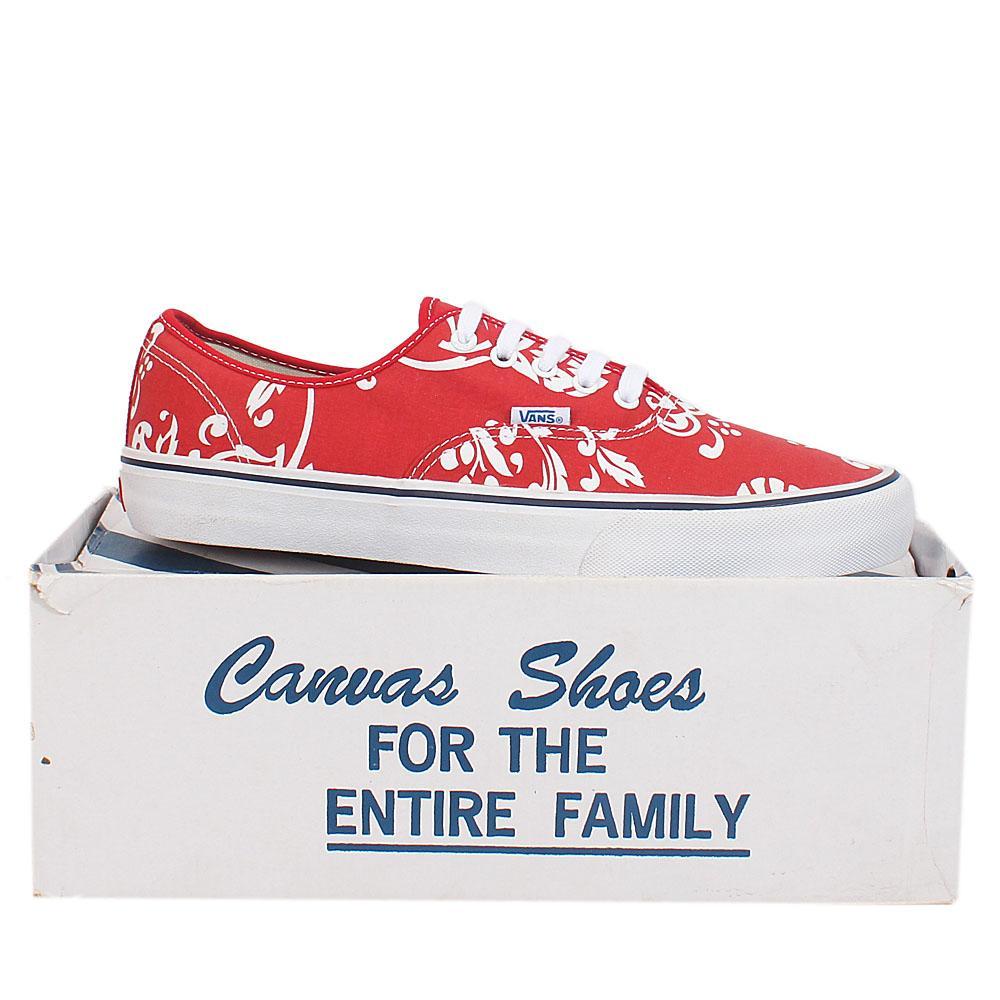 Vans Ultracush Red Fabric Men Sneaker Sz 46