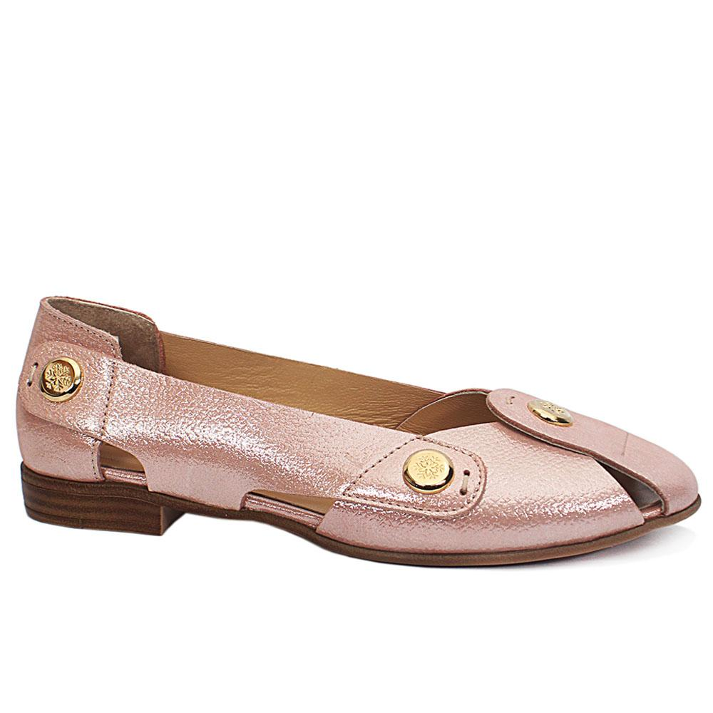 Pink BonBon Leather Flat Shoe