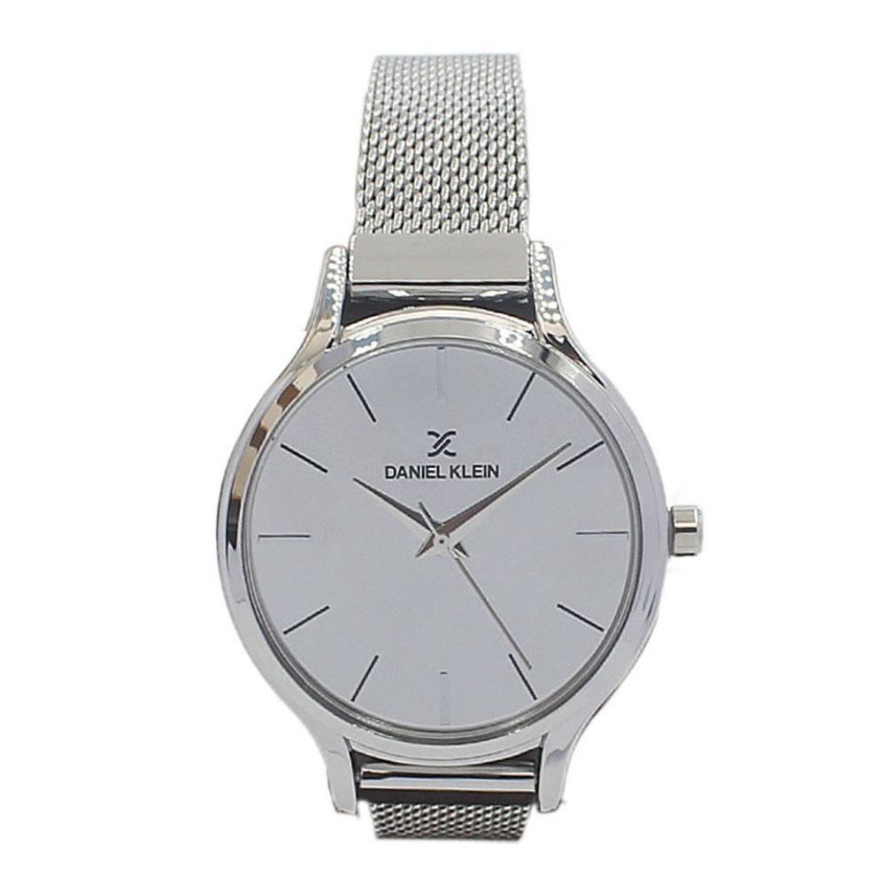 Daniel Klein Pure Silver Stainless Mesh Ladies Watch