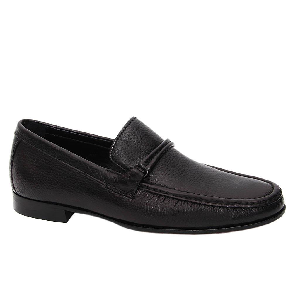Black Johnny Italian Leather Men Loafers