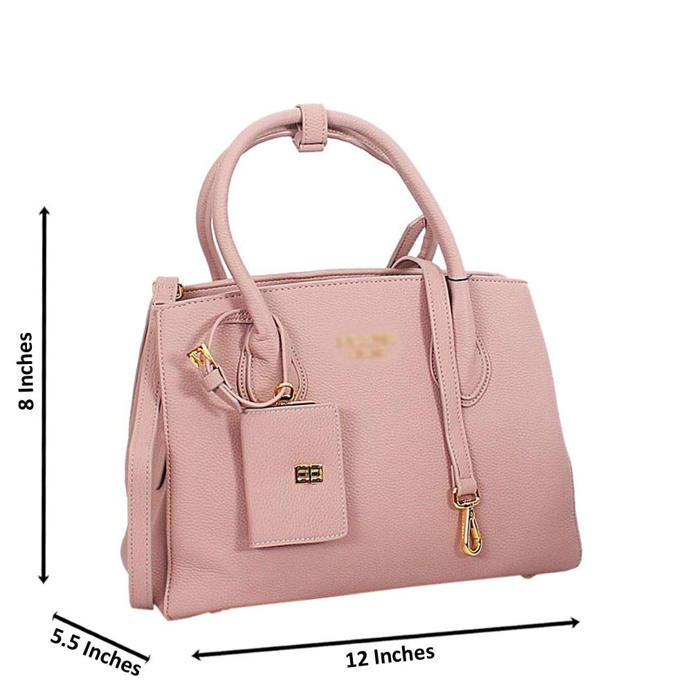 Pink Lucrezia Leather Tote Handbag